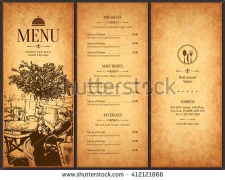 Restaurant Menu Design Vector Menu Brochure Stock Vector 465516620 ...