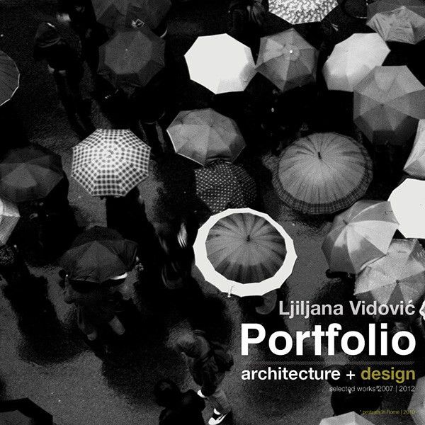 My new architecture portfolio front pages on Behance