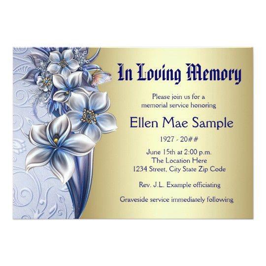 Memorial Service Invitation Cards - Festival-tech.Com