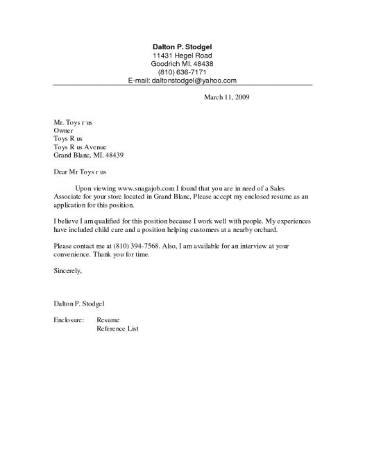 To Write Cover Letter Examples Sales Associate Resume Cover Letter ...