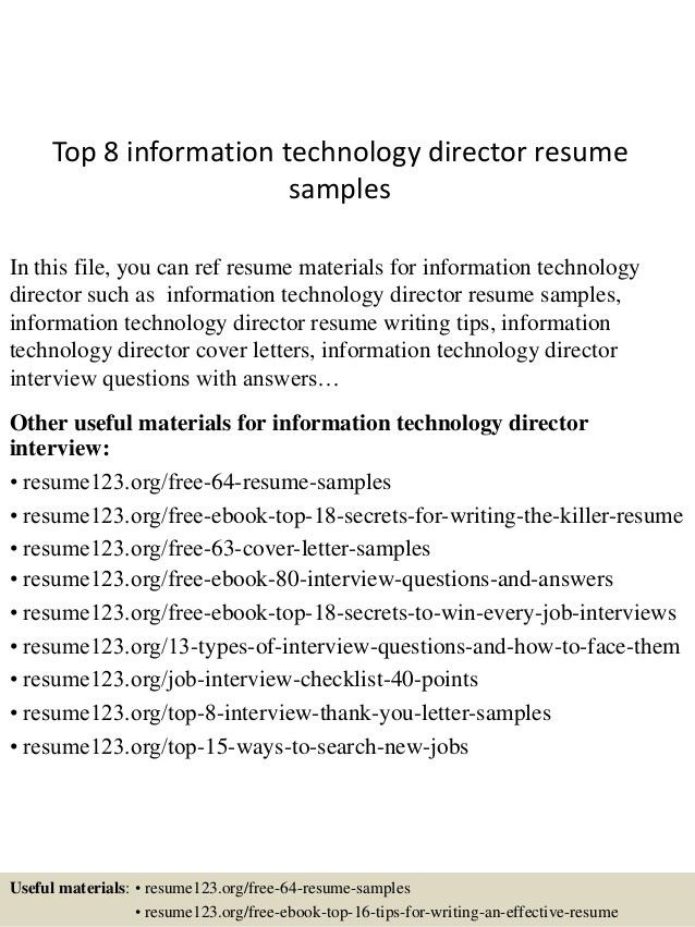 technology director resumes