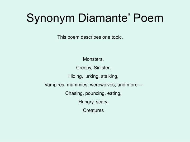 PPT - Diamante' Poetry PowerPoint Presentation - ID:6774198