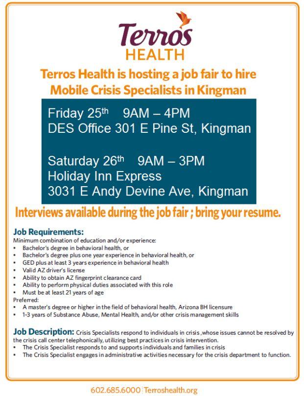 Terros Health Job Fair - Kingman   ARIZONA@WORK