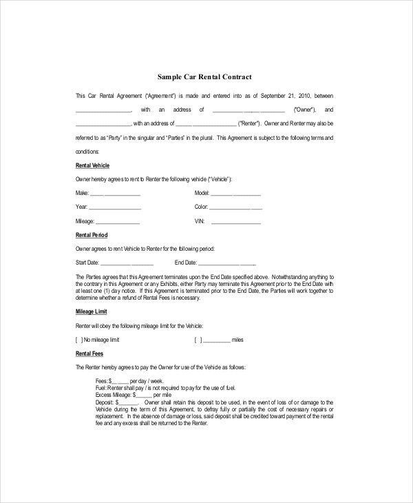 Blank Lease Template - 6+ Free Word, PDF Documents Download | Free ...