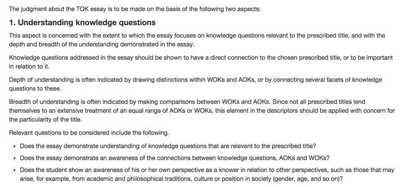TOK-AIS - 2nd Assessment - Prescribed Titles