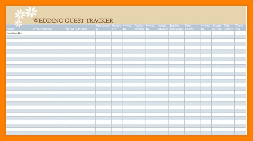 5+ event guest list template | beverage-carts