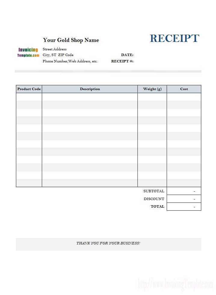 Receipt Template for Gold Shop (1)