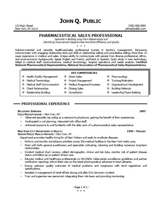 Pharmaceutical Sales Resumes Examples Free Resume Examples 2017 ...