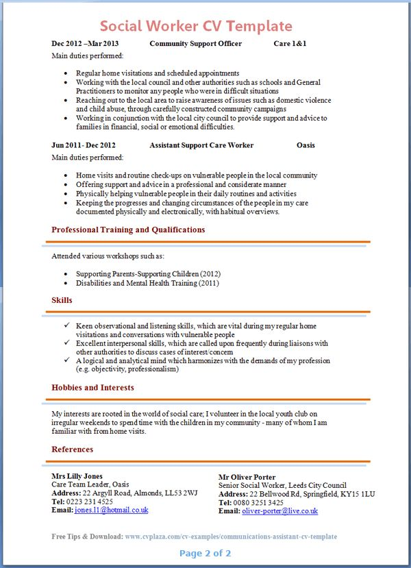 Lofty Ideas Social Work Resume Examples 14 Social Work Resume ...