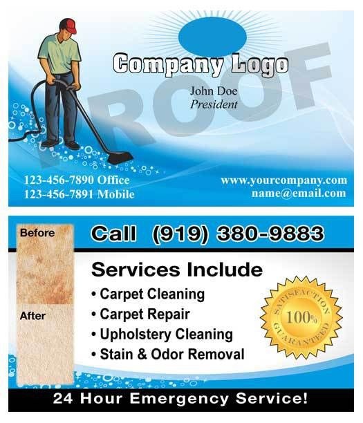 Carpet Cleaning Business Cards, Carpet Cleaner Marketing