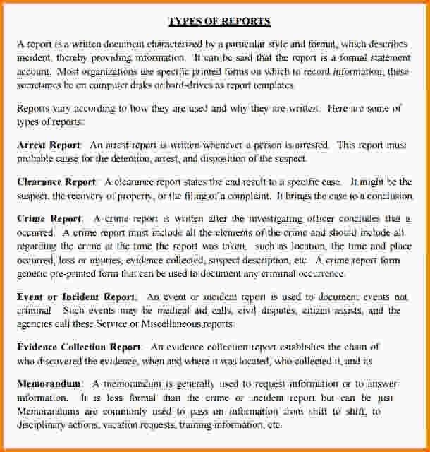 12+ police report writing | Letter Template Word