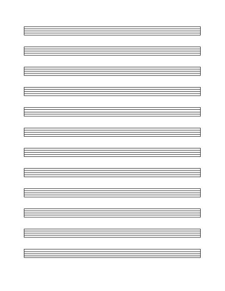 Music staff paper (12 per page) - Office Templates