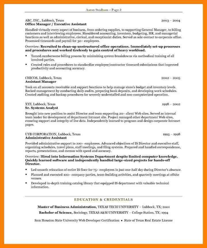 7+ executive secretary resume | packaging clerks