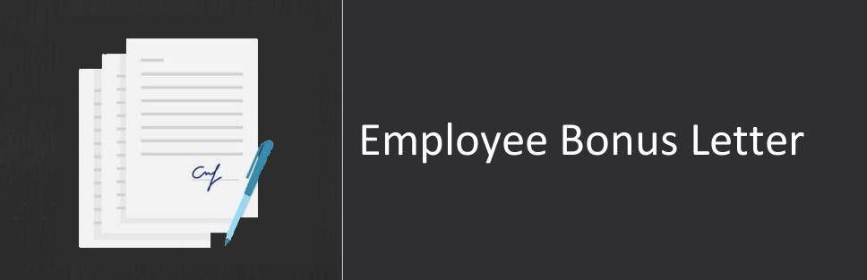 Employee Bonus Letter, Sample & Format