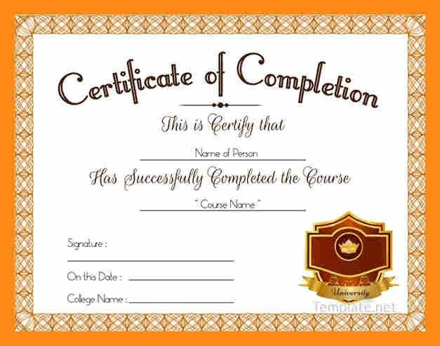 Course Completion Certificate Format | Samples.csat.co