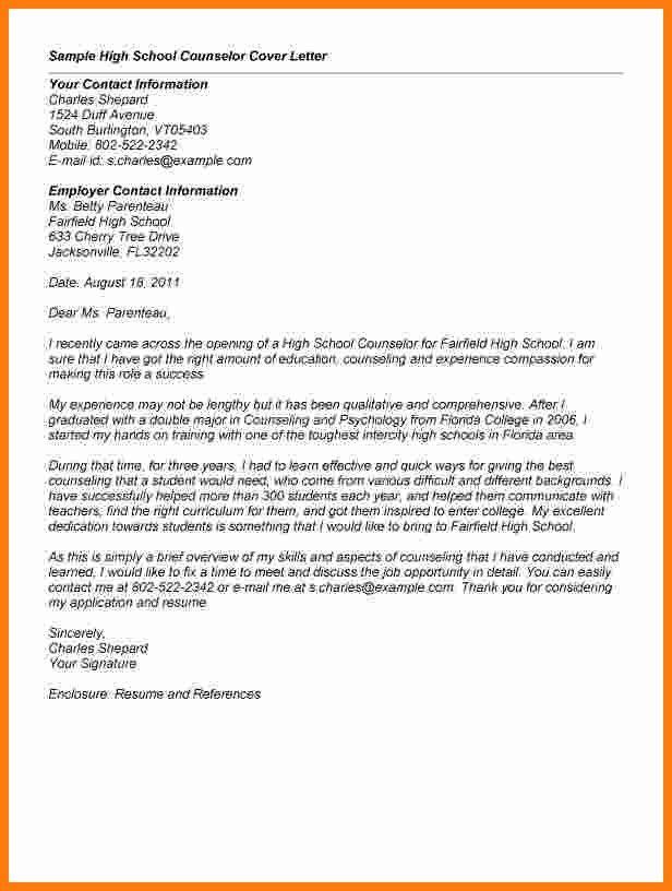 8+ letter for high school | ledger paper