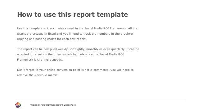 Performance Report Template. Status Report Templates Project ...