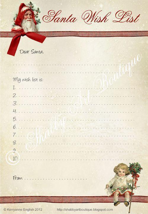 Best 25+ Santa wish list ideas only on Pinterest | Free printable ...