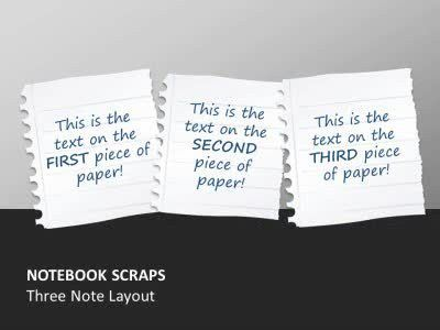 Notebook Paper Scraps - A PowerPoint Template from PresenterMedia.com