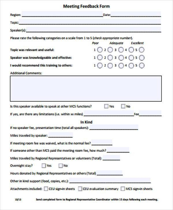 Free Sample Feedback Form - 12+ Examples in Word, PDF