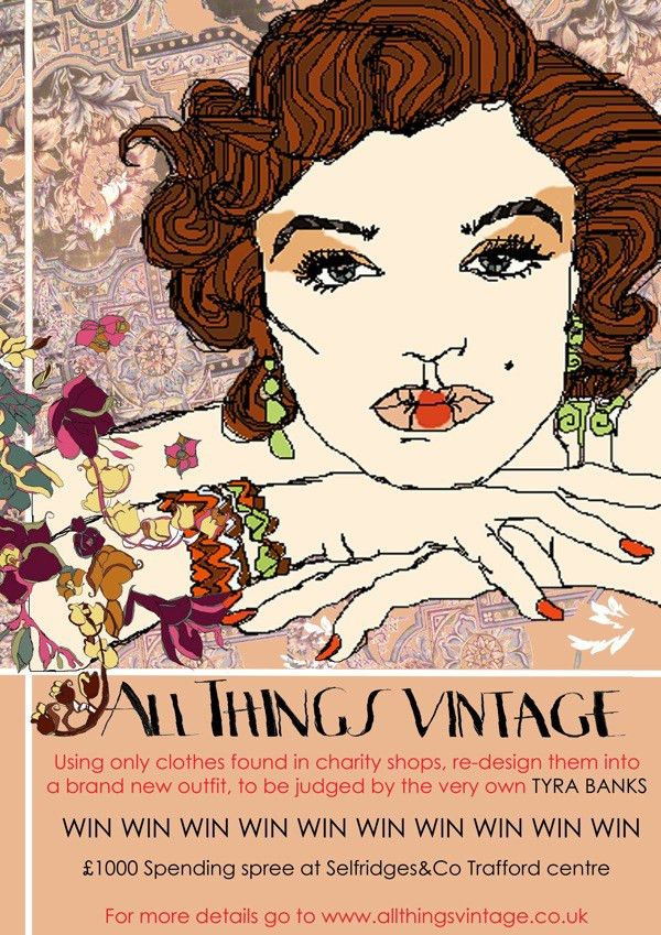 Vintage fashion show poster by Rachel Bowyer, via Behance ...