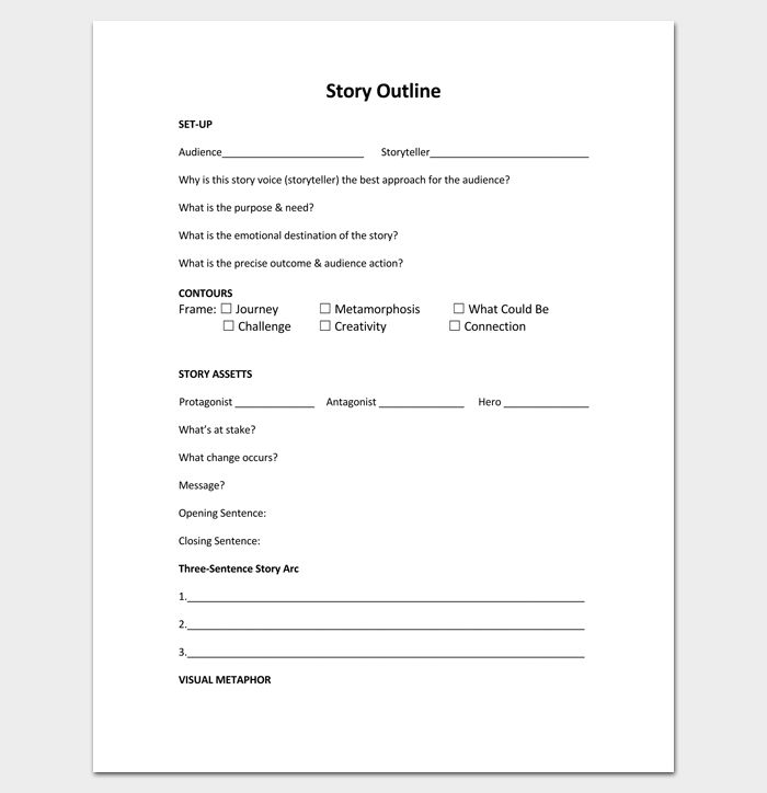 Story Outline Template PDF Format | Outline Templates - Create a ...