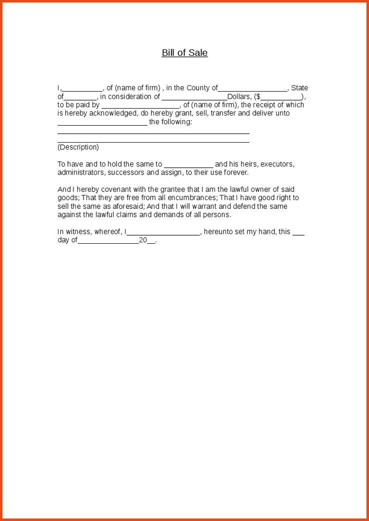 14 bill of sale example | Sponsorship letter
