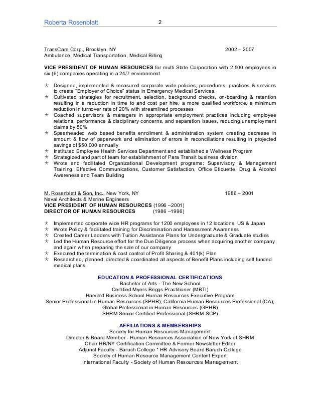 Roberta Rosenblatt SPHR-CA, GPHR,SHRM-SCP Resume 2015b