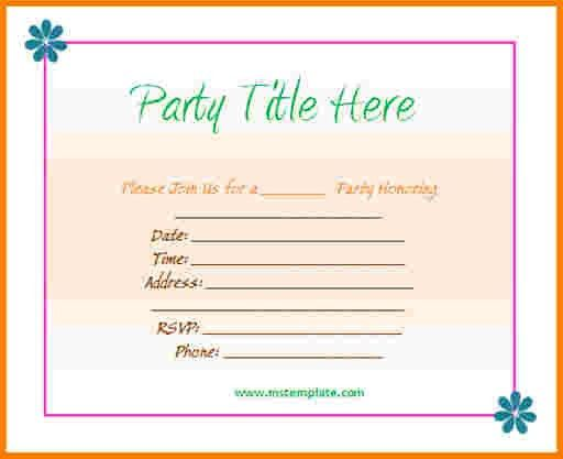 8 free invitation templates for word | Receipt Templates