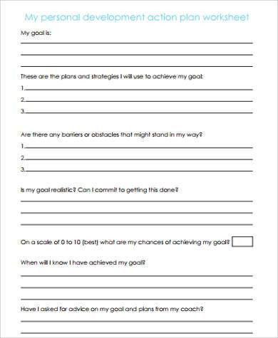 Sample Action Plan Work Sheet - 30+ Examples in Word, PDF
