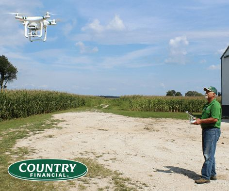 COUNTRY Financial Tests Drones for Crop Claims