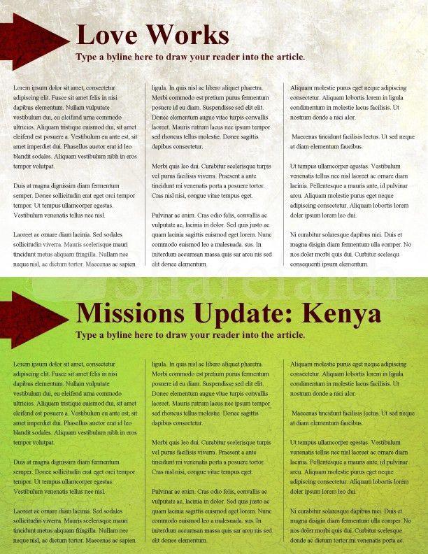 Apple Church Newsletter Template Template | Newsletter Templates