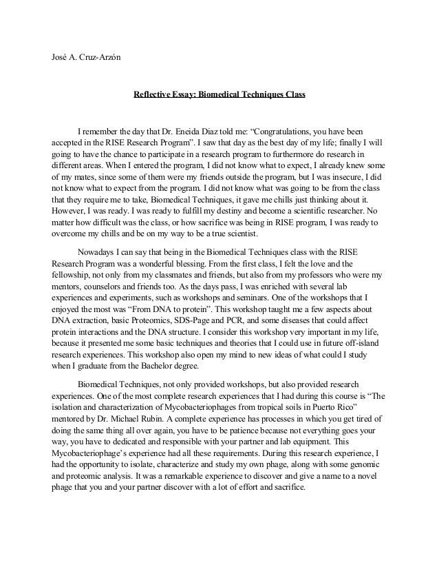 reflection paper example essays how to write a reflective essay ...