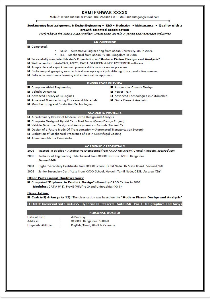 Resume Sample For Freshers Student - http://www.resumecareer.info ...