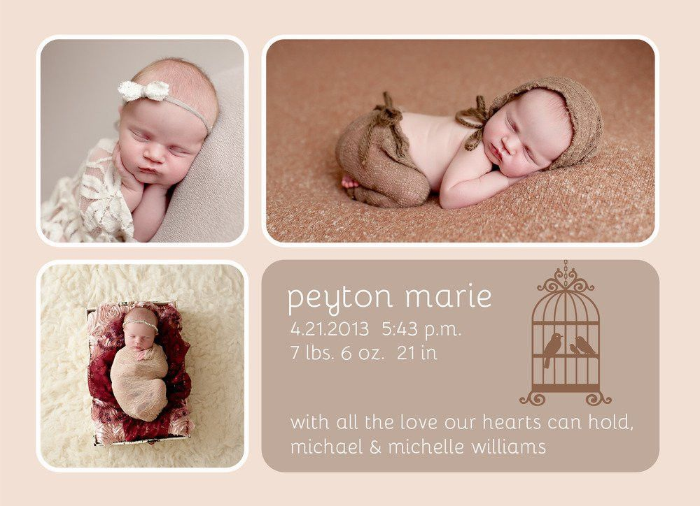 Keri Meyers Photography — Birth Announcement Templates