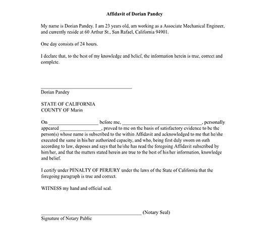 I 751 Affidavit Template - Ecordura.com