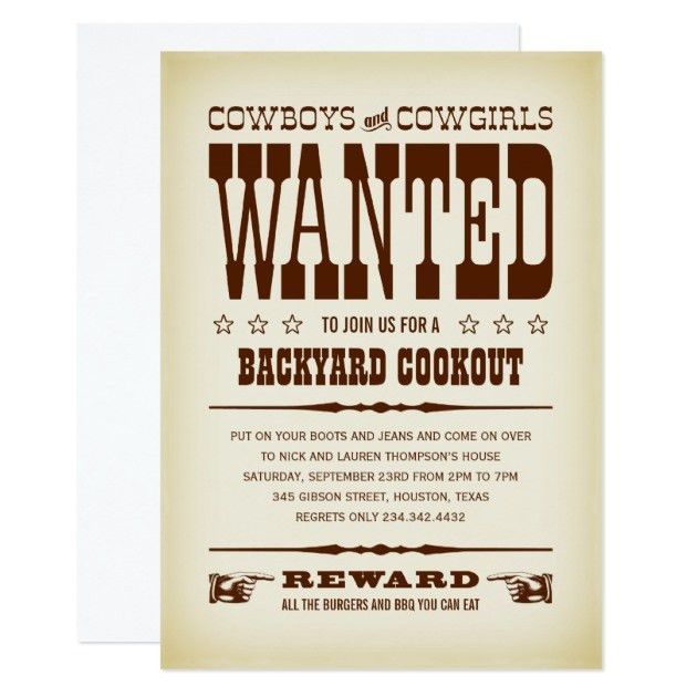 Wanted Invitations & Announcements | Zazzle