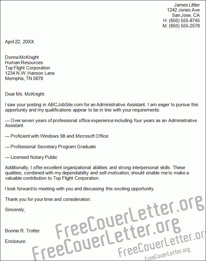 assistant cover letter examples administrative assistant cover ...