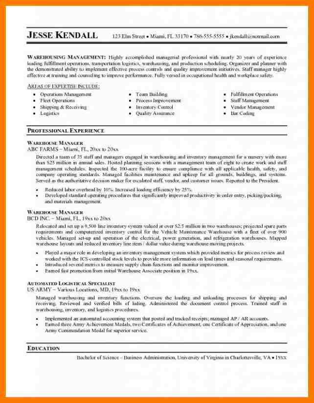8+ warehouse resume objectives | park-attendant
