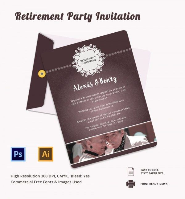 Retirement Party Invitation Template – gangcraft.net