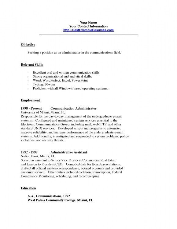 Example Skills Resume