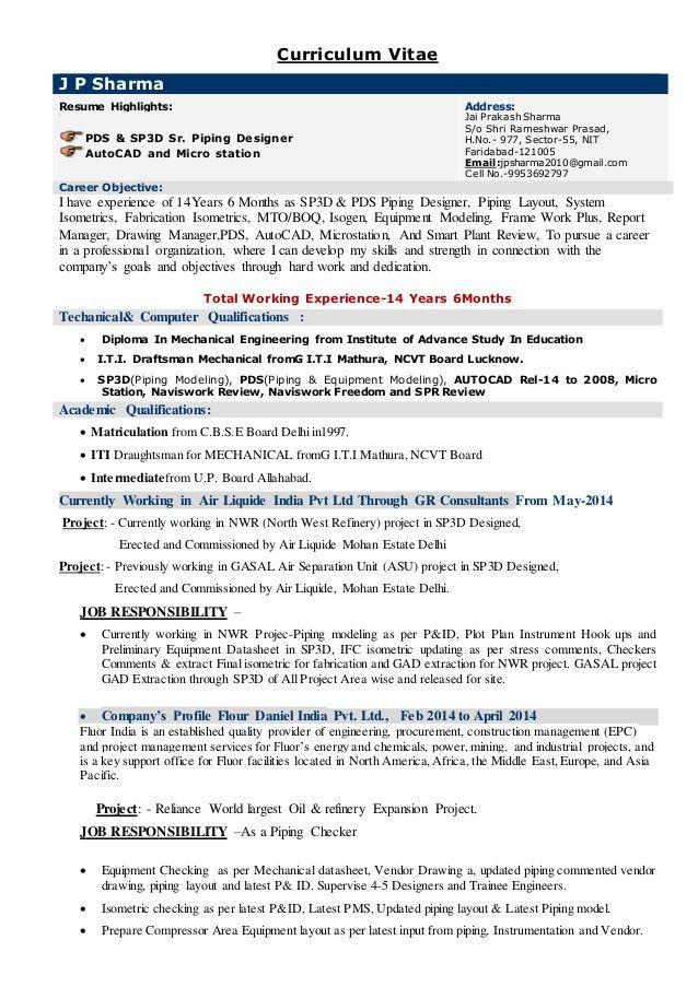 Jai Prakash sharma CV