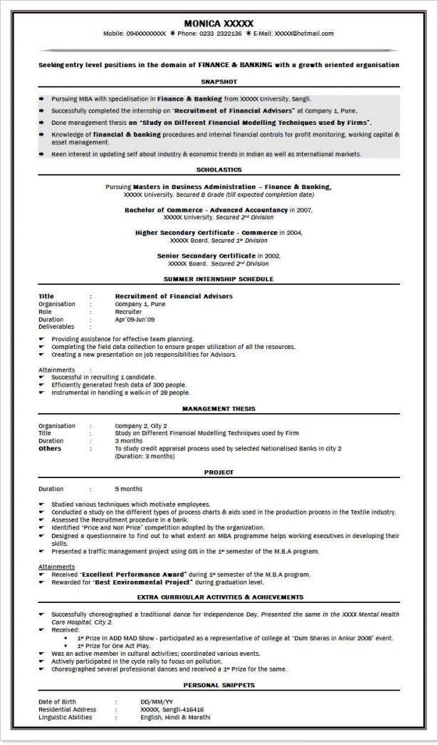 General Resume Summary Example. resume summary examples entry ...