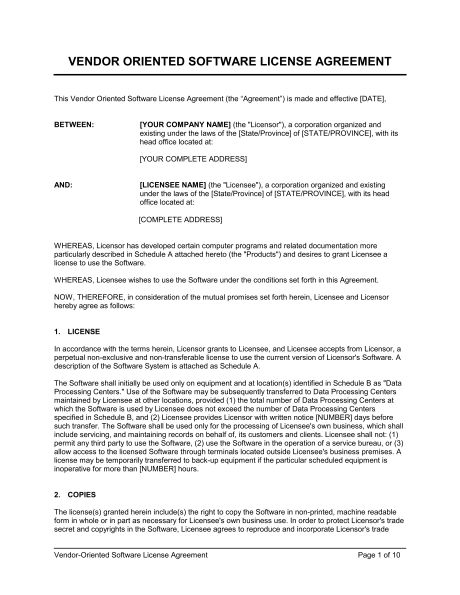 Sample Vendor Agreement  Vendor Agreement Templates Free Sample