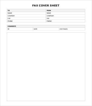 8+ Fax Cover Templates - PSD, EPS, Word Format Download | Free ...