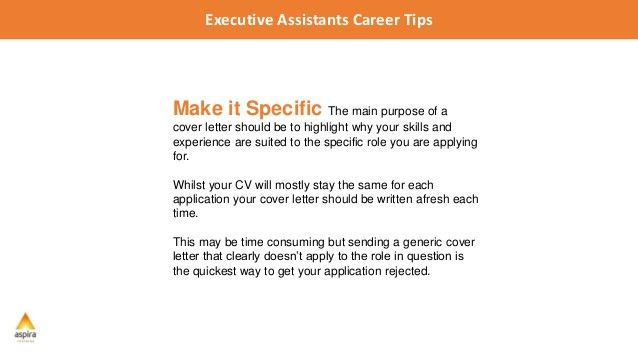 Executive Assistant Career Tips: 5 Tips For Writing a Winning Cover L…