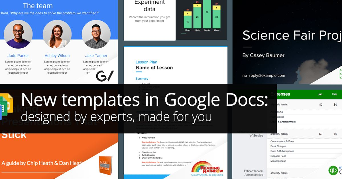 G Suite Updates Blog: New templates in Google Docs: designed by ...