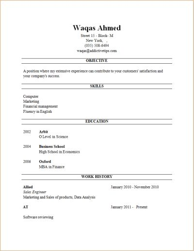 resume format examples for students download pdf builder templates ...