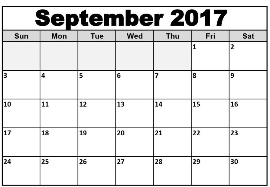 September 2017 Calendar Word | Calendar Template Letter Format ...