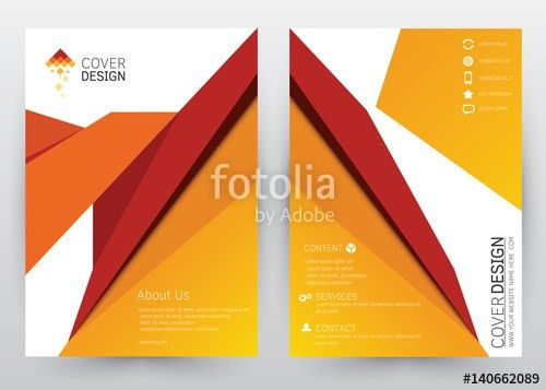 Cover Design Vector template set for Brochure, Annual Report ...
